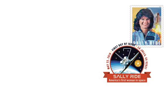 La poste américaine va émettre en 2018 un timbre pour commémorer l'astronaute Sally Ride (1951-2012) Ride_410