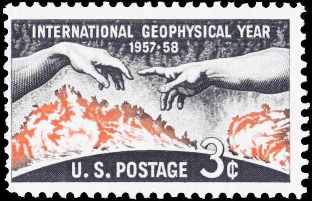 Philatélie spatiale USA - 1958 - Timbre IGY / International Geophysical Year S-l16010