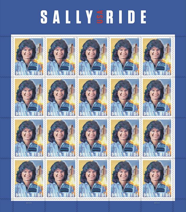 La poste américaine va émettre en 2018 un timbre pour commémorer l'astronaute Sally Ride (1951-2012) Sally_11