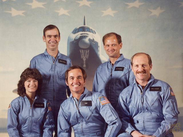 La poste américaine va émettre en 2018 un timbre pour commémorer l'astronaute Sally Ride (1951-2012) Sts-7_10