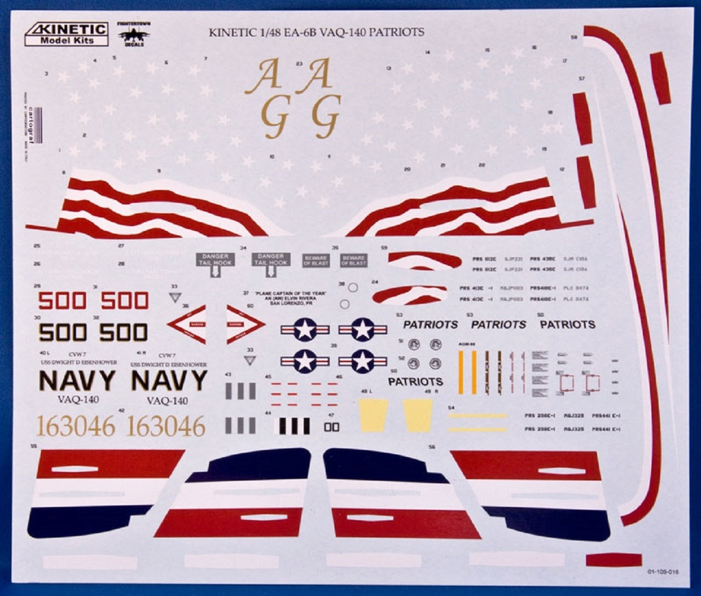 EA-6B Prowler ( Kinetic 1/48 ) Decals10