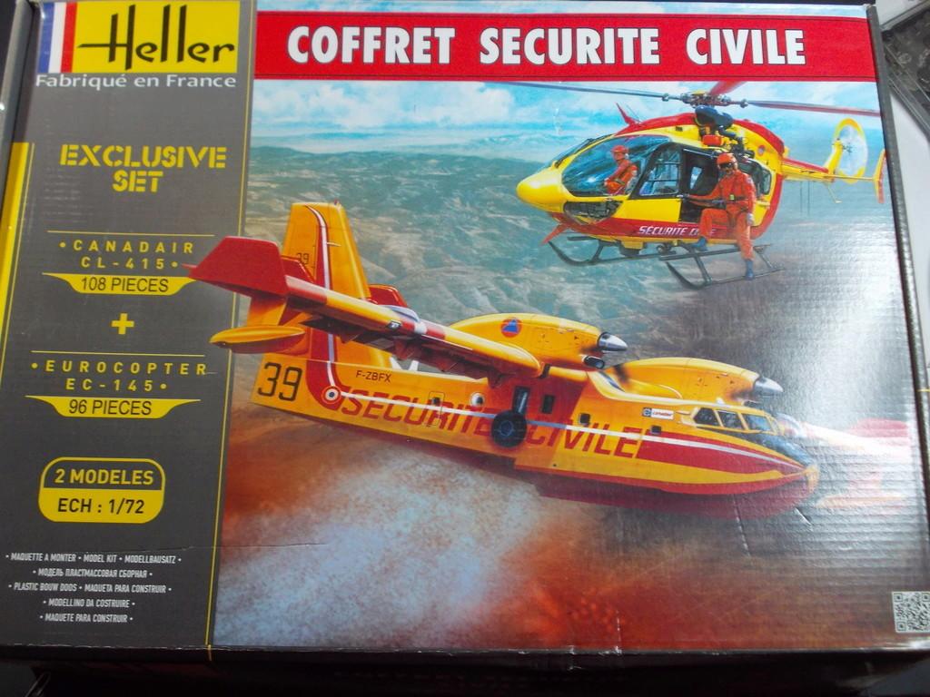 Coffret Sécurité Civile : CL-415 + EC-145 ( Heller 1/72 ) Dscn1415