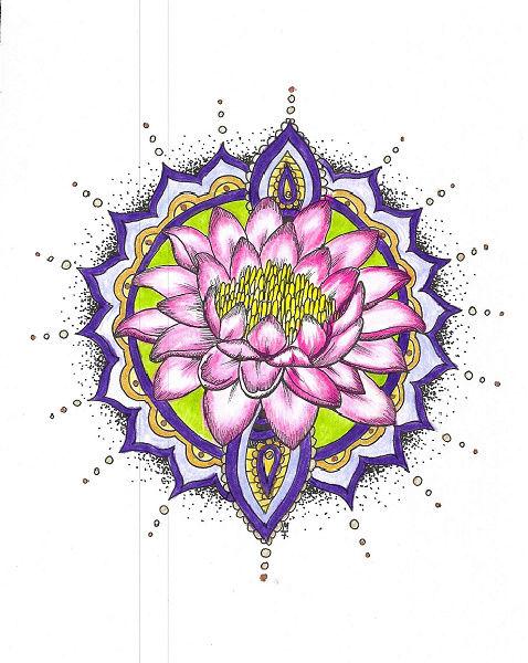 Les coloriages de Poppy ... Lotus11