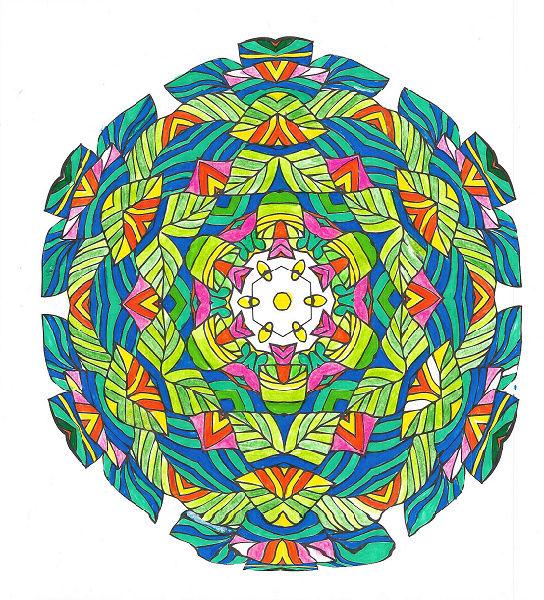 Les coloriages de Poppy ... Mandal10