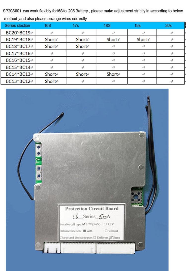 BMS et Depannage ou maintenance de pack de batterie  16s_to11