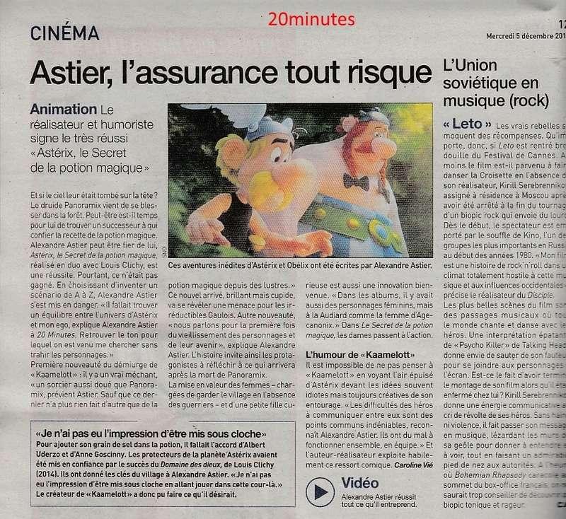 Astérix et le secret... Cnews et 20minutes du 05/12/2018 20minu10