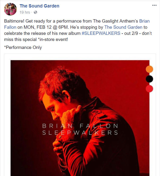 Brian Fallon & The Howling Weather US/CAN tour 2018 - Page 2 Captur10