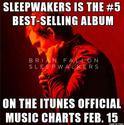 Sleepwalkers is #5 Top Selling Album on iTunes for Week Ending 15 Feb 2018 Screen10