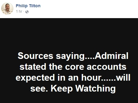 Philip Tilton ~Urgent Admiral Update~  12/21/17  **UPDATED** 110