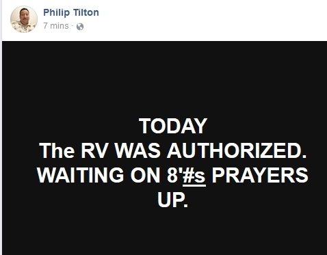 Philip Tilton - RV Authorized!  1/12/18 2018-012