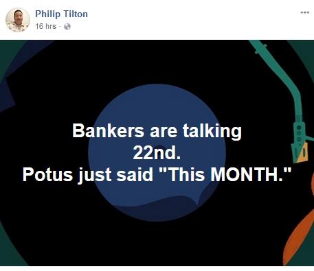 Philip Tilton - Banker Intel!  4/22/18 2018-045