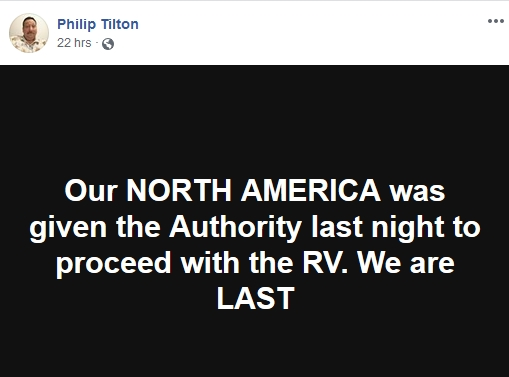 Philip Tilton - The RV is in Process!  11/28/18 2018-135