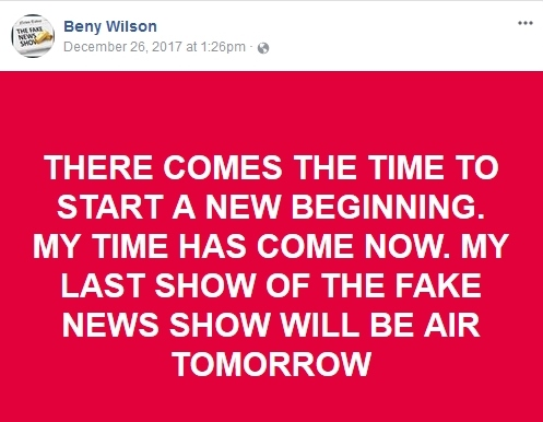 Beny Wilson Says NO MORE CALLS After 12/27/17 Bw110