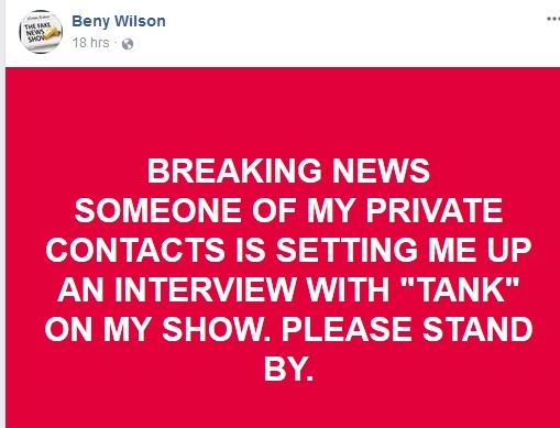 Beny Wilson Says NO MORE CALLS After 12/27/17 Bw310