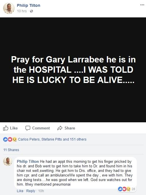 Gary Larrabee Hospitalized   1/19/18 Gary_l11