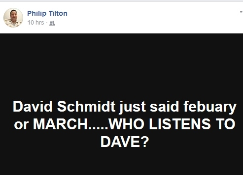 "What Does Philip Tilton Think of Dave ""the Douchebag"" Schmidt?  12/12/17 Pt_ds10"
