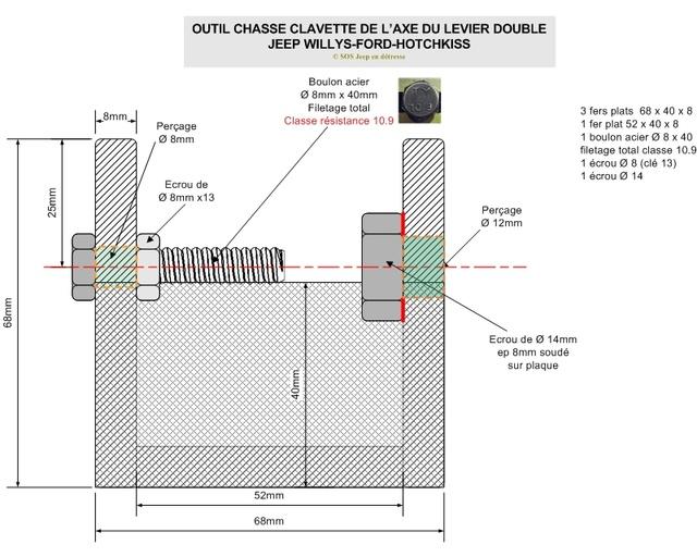 METHODES  & OUTILS POUR EXTRAIRE  LA CLAVETTE ET L'AXE DU LEVIER DOUBLE Outil_11