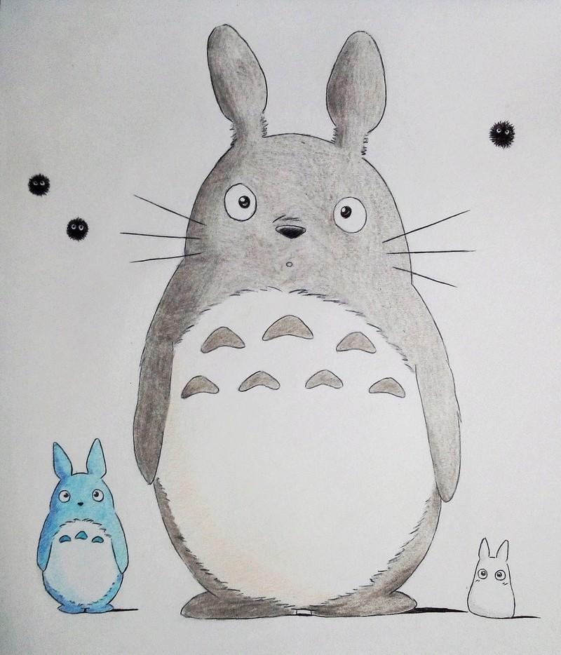 Dessins d'une petite soeur <3 Totoro10