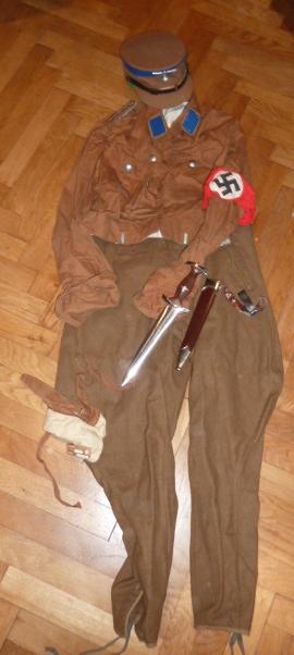 Lot indochina, US WW2, Gebirgsjäger, Uniforme complet S.A. Oberrhein....avec sa dague ! P1540028