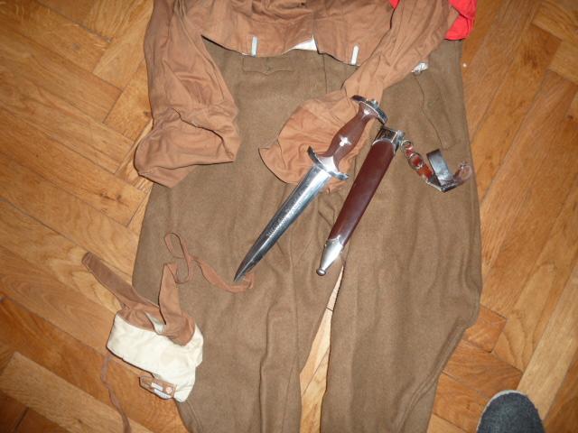 Lot indochina, US WW2, Gebirgsjäger, Uniforme complet S.A. Oberrhein....avec sa dague ! P1540031