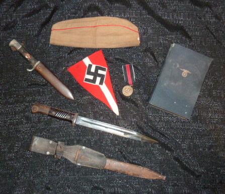 Hitlerjugend, Reichsrevolver, TK17, épée de Gandalf, allemand 1914/18...... P1600125