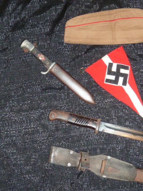 Hitlerjugend, Reichsrevolver, TK17, épée de Gandalf, allemand 1914/18...... P1600129