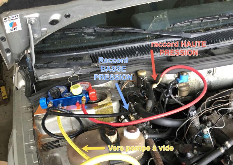[TUTO] recharge climatisation R12 avec gaz de substitution Rempli10