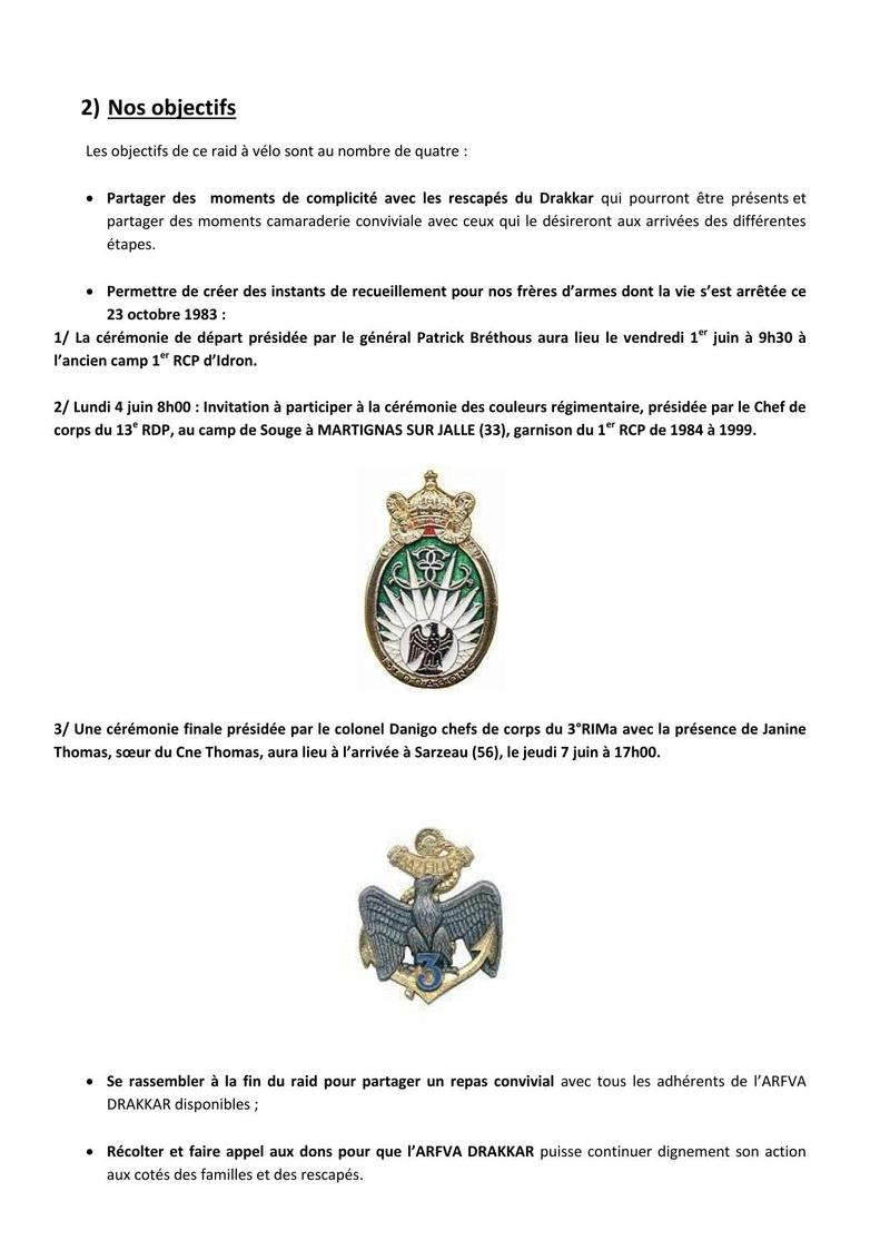 RAID 2018 en soutien aux rescapés du DRAKKAR sou le haut patronnage du général de division P.BRETHOUS Dosier13