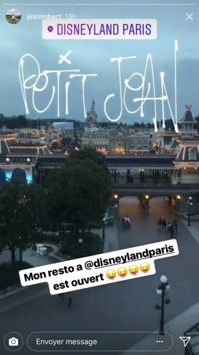 [Disneyland Hotel] Menu Petit Jean au Founder's Restaurant - par Jean Imbert Img_4719