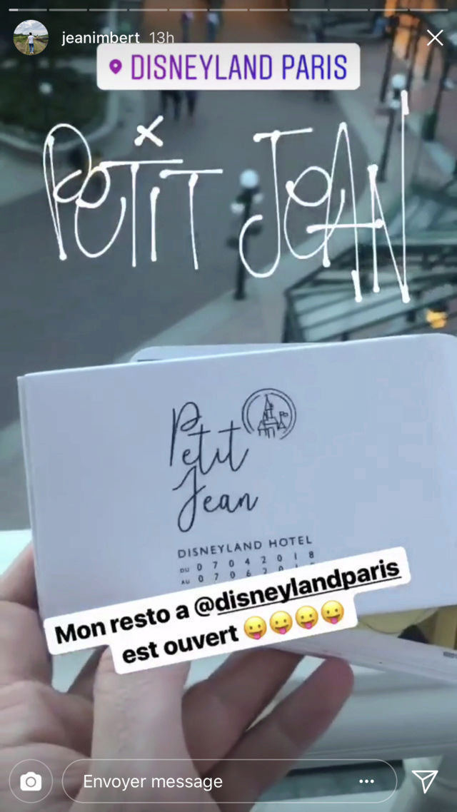 [Disneyland Hotel] Menu Petit Jean au Founder's Restaurant - par Jean Imbert Img_4720