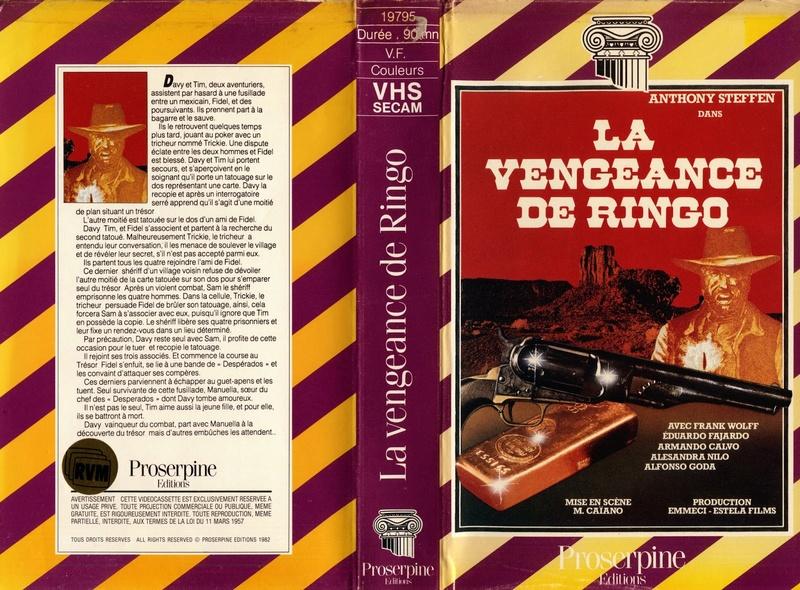 La vengeance de Ringo ( Ringo il volto della vendetta ) – 1966 – Mario CAIANO - Page 2 Vhs10