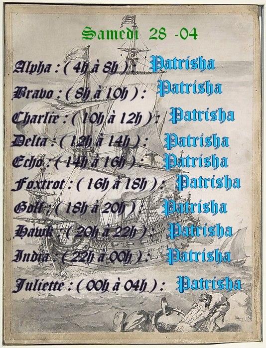 Planning journalier des Capitaines  Planni17