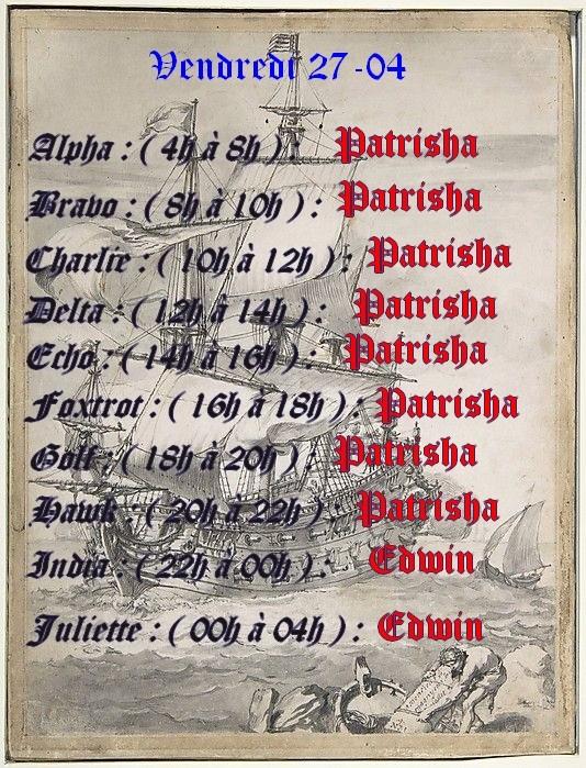 Planning journalier des Capitaines  Planni18