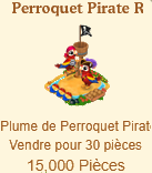 Perroquet Pirate Rouge / Perroquet Pirate => Plume de Perroquet Pirate Sans_t60