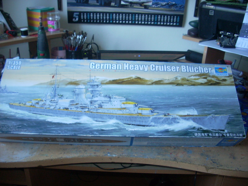 German Heavy Cruiser Blücher von Trumpeter in 1:350 Dscn0023