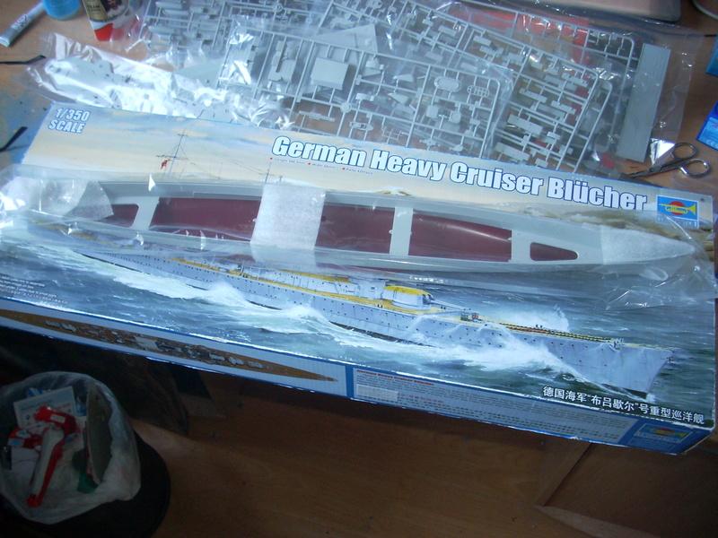 German Heavy Cruiser Blücher von Trumpeter in 1:350 Dscn0024