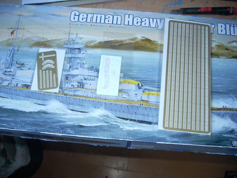 German Heavy Cruiser Blücher von Trumpeter in 1:350 Dscn0031
