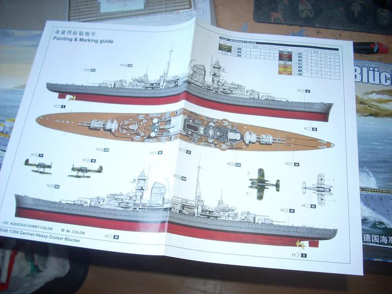 German Heavy Cruiser Blücher von Trumpeter in 1:350 Dscn0032