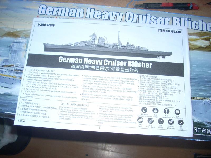 German Heavy Cruiser Blücher von Trumpeter in 1:350 Dscn0033