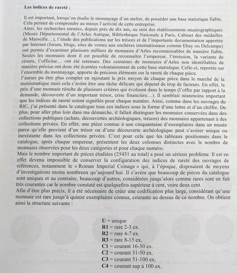Indice de rareté des monnaies romaines 2018-024