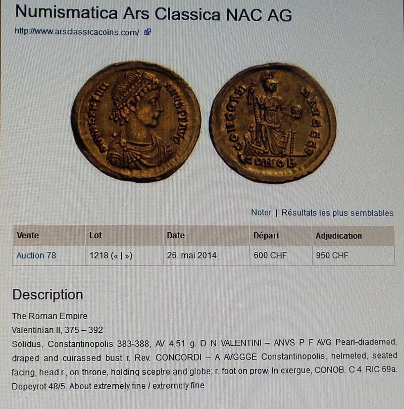 Etat Monnaie Valentinien II 2018-025