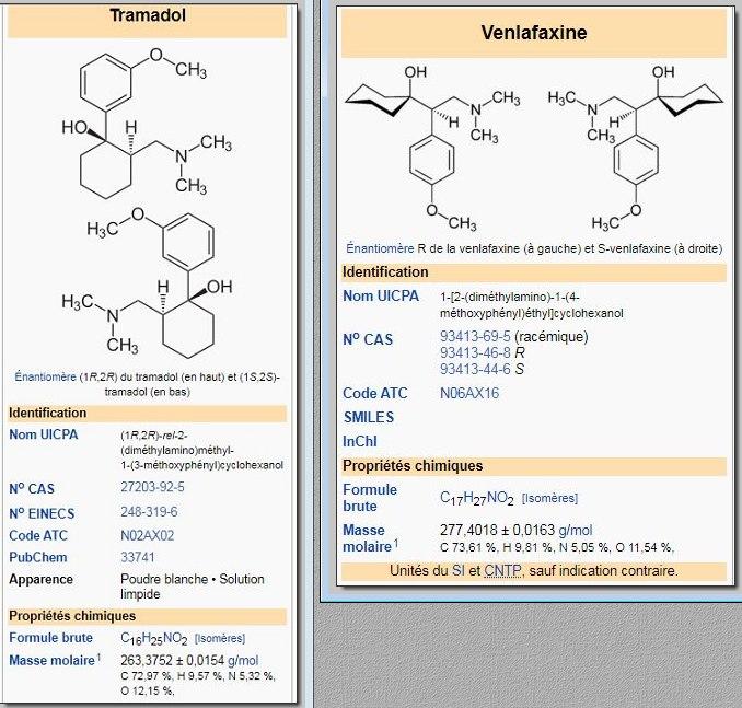 Effexor-Venlafaxine est un stupéfiant identique au tramadol / ixprim / topalgic Tramad11