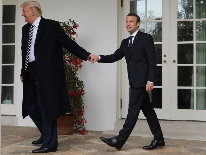 """Emmanuel Macron critique le """"fétichisme"""" allemand pour les excédents budgétaires Cid_a710"""