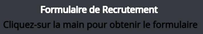 ► FORMULAIRE DE RECRUTEMENT ◄ Titre_10