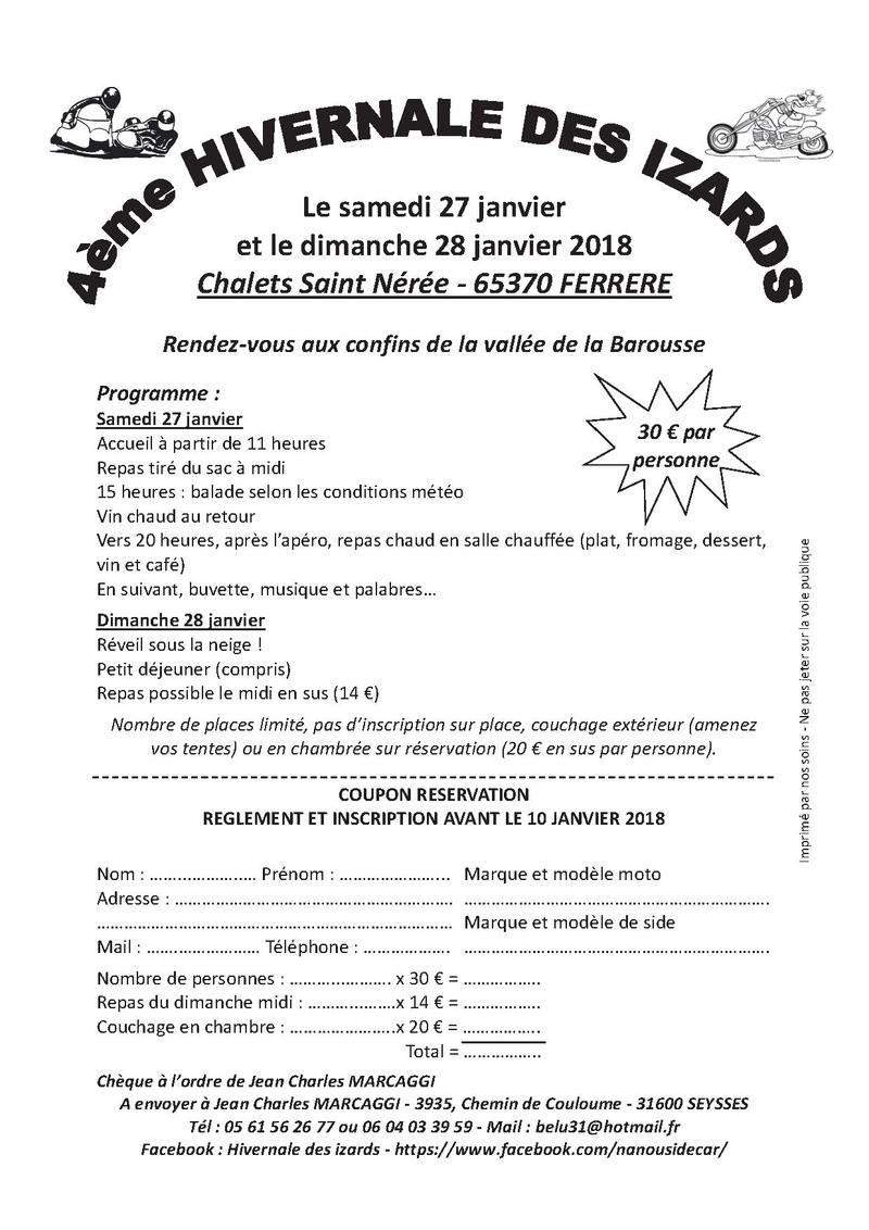 Les izards 27/28 janvier 2018 Inscri10