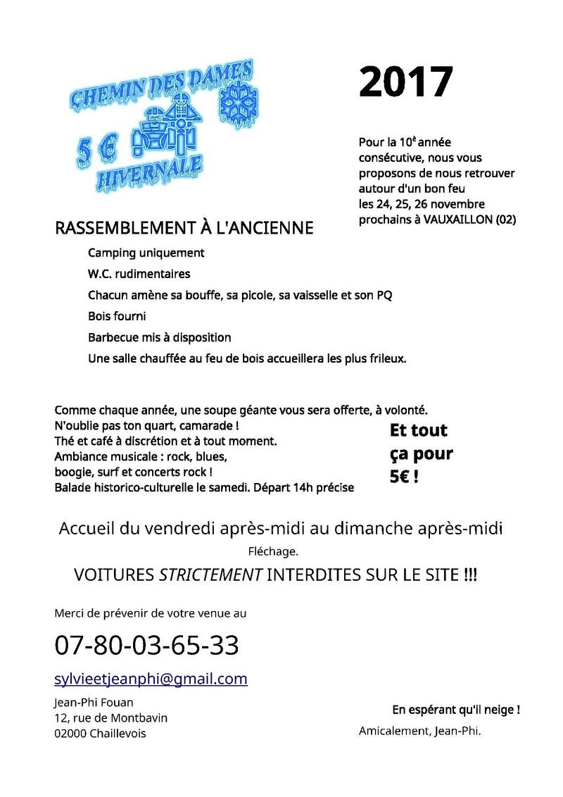 Hivernale Chemin des Dames à Vauxaillon (02) les 24-25 et 26 novembre 2017 Invita10