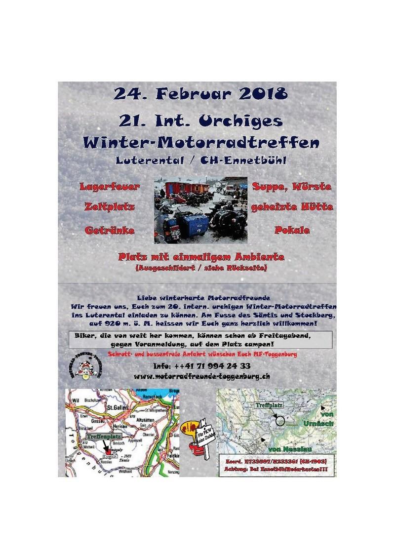 Hivernale  WINTER-Motorradttreffen  Luterental( Suisse) 24 fevrier 2018 Winter10