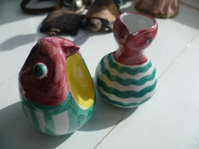 Little Italian Bird creamer and sugar bowl P1300010