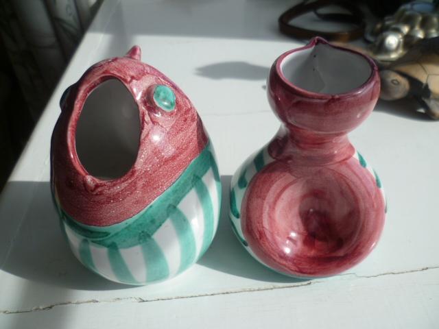 Little Italian Bird creamer and sugar bowl P1300011