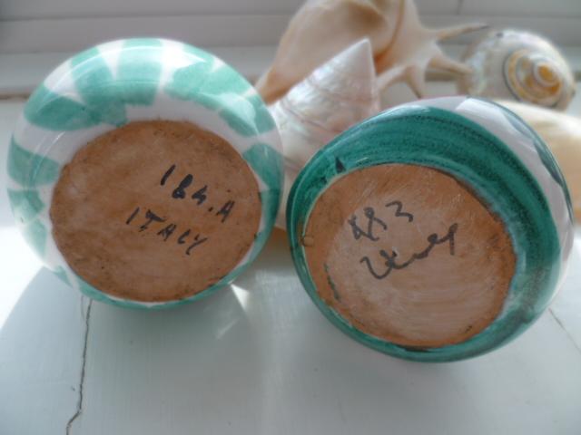 Little Italian Bird creamer and sugar bowl P1300012